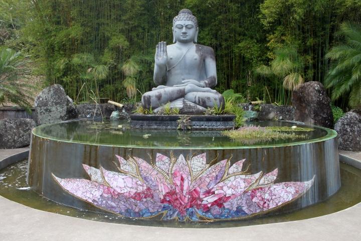 crystal castle lotus Buddha sculpture