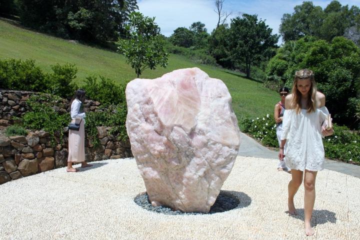 crystal castle giant rose quartz
